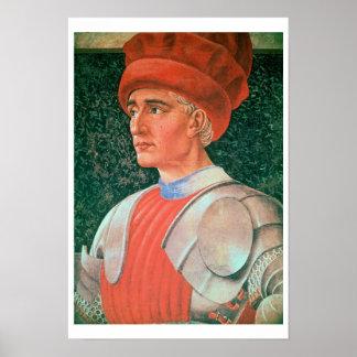 Farinata degli Uberti, detail of his bust, from th Poster