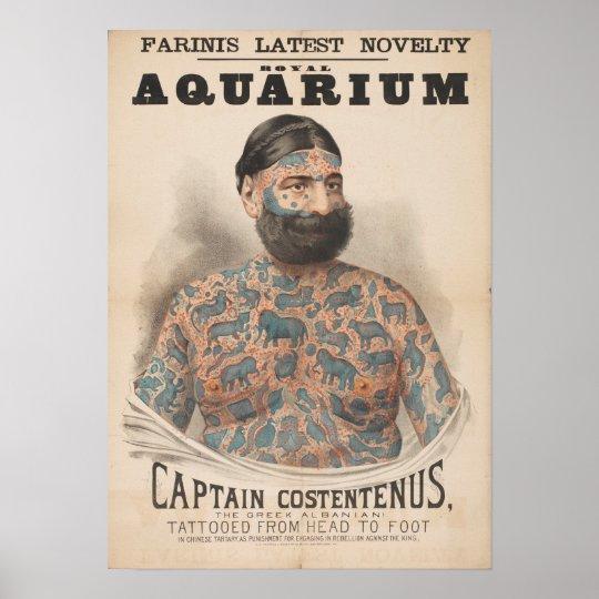 Farinis Royal Aquarium Captain Costentenus Poster