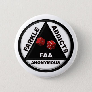 Farkle Addicts Anonymous (2010 Version) 6 Cm Round Badge