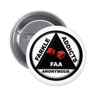 Farkle Addicts Anonymous (2010 Version) 6 Cm Round Badge