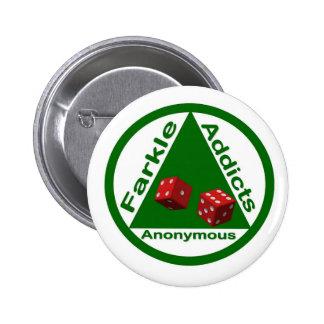 Farkle Addicts Anonymous 6 Cm Round Badge