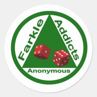 Farkle Addicts Anonymous Classic Round Sticker