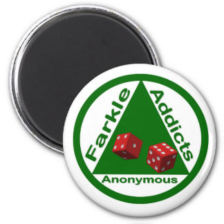 Farkle Addicts Anonymous Magnet