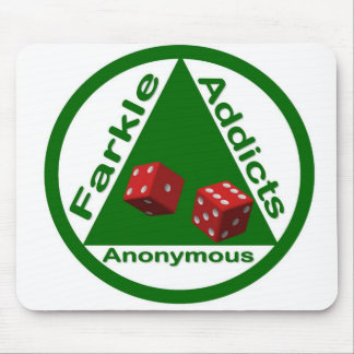 Farkle Addicts Anonymous Mouse Mat
