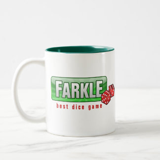 FARKLE - best dice game Two-Tone Coffee Mug
