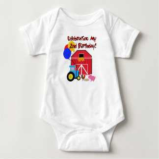 Farm 2nd Birthday Baby Bodysuit