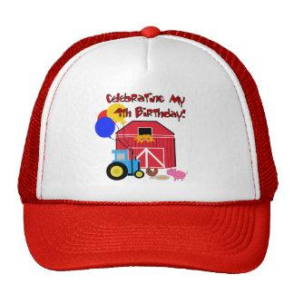 Farm 4th Birthday Tshirts and Gifts Cap