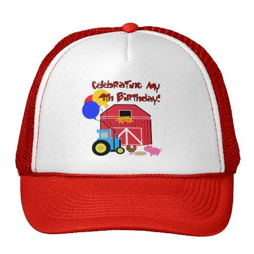 Farm 4th Birthday Tshirts and Gifts Hat