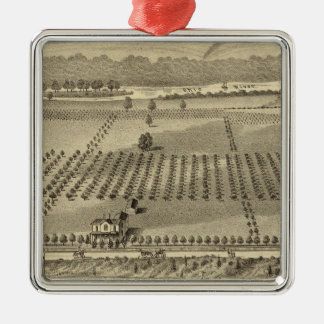 Farm and residences of Joseph Christmas Ornament