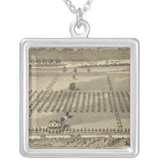 Farm and residences of Joseph Silver Plated Necklace