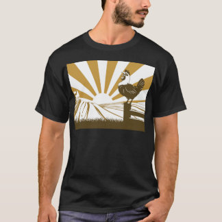 Farm and rooster T-Shirt