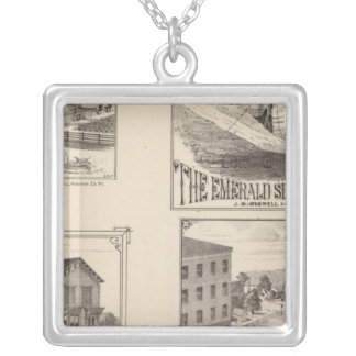 farm and waterworks in Hydeville Silver Plated Necklace