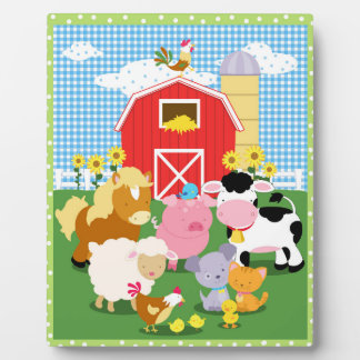 Farm Animal Art Easel Plaque