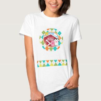 Farm Animal Baby Shower on Colorful Argyle T-Shirt