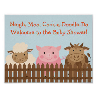 Farm Animal Baby Shower Sign