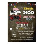 Farm Animal Barnyard Birthday Invitation