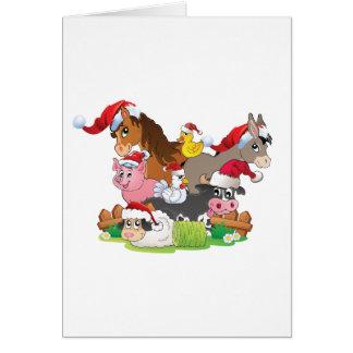 Farm Animal Christmas Card
