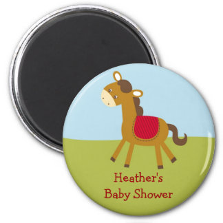 Farm Animal Horse Pony Baby Shower Favor Magnets