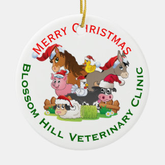 Farm Animal Veterinary Christmas Ornament