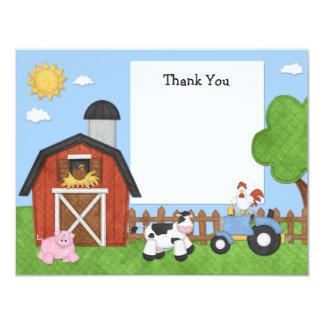 Farm Animals Birthday Party Thank You Card 11 Cm X 14 Cm Invitation Card