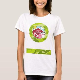 Farm Animals; bright green camo, camouflage T-Shirt