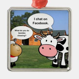 Farm animals cute cartoon funny facebook chat christmas ornaments