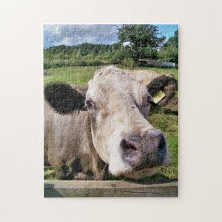FARM ANIMALS, CUTE COW JIGSAW PUZZLE
