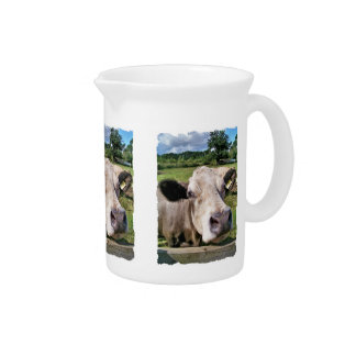 FARM ANIMALS, CUTE COW PITCHER