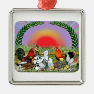 Farm Animals Christmas Ornaments