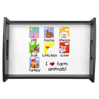 Farm Animals Food Tray