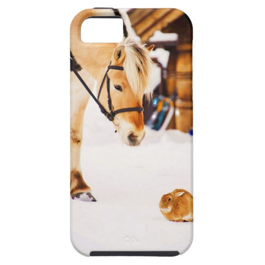 Farm animals horse and rabbit iPhone 5 cover