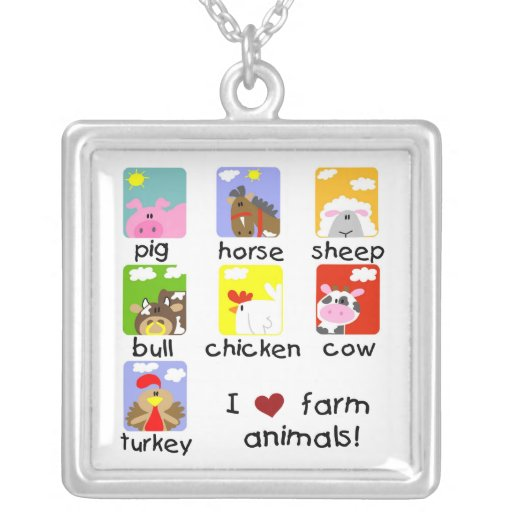 Farm Animals Personalized Necklace