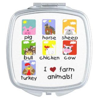 Farm Animals Vanity Mirrors