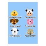 Farm Animals Sounds Pack Of Chubby Business Cards