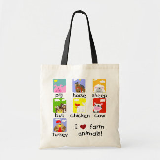 Farm Animals Tshirts and Gifts Tote Bags