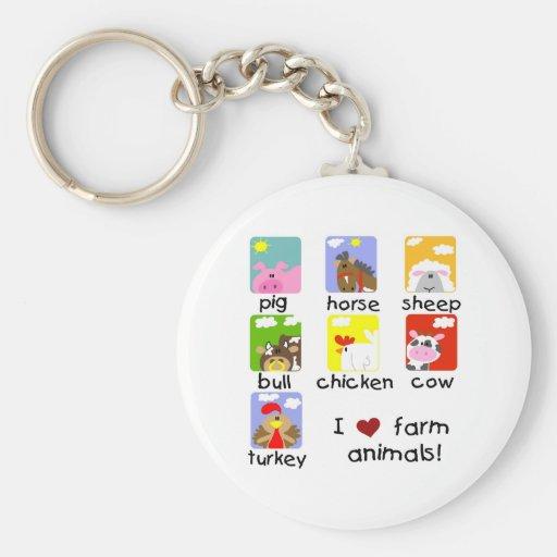 Farm Animals Tshirts and Gifts Key Chains