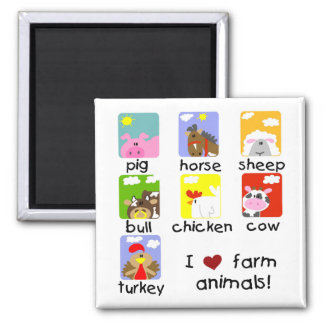 Farm Animals Tshirts and Gifts Magnet