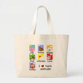 Farm Animals Tshirts and Gifts Jumbo Tote Bag