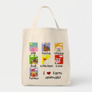 Farm Animals Tshirts and Gifts Canvas Bags