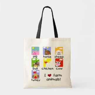 Farm Animals Tshirts and Gifts Budget Tote Bag