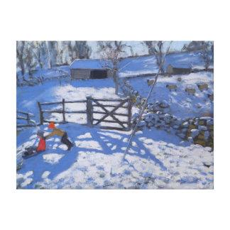 Farm at Elton near Rowsley 2008 Canvas Print