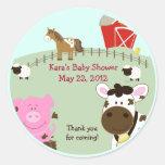 Farm Babies Baby Shower Favour Sticker