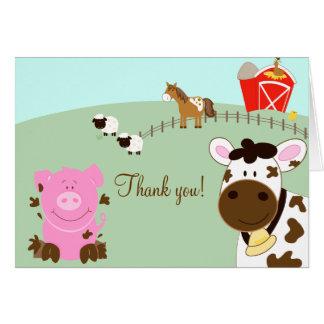 Farm Babies Barnyard Folded Thank you notes