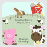FARM BABIES Barnyard SQUARE Favour Sticker