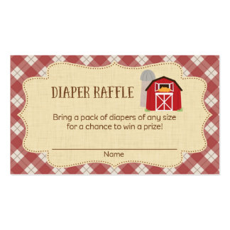 Farm Baby Shower Diaper Raffle Tickets Pack Of Standard Business Cards