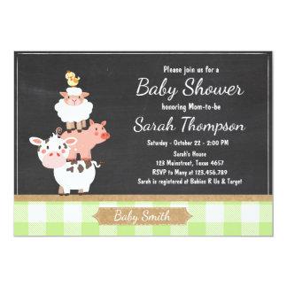 Farm Baby Shower invitation Country Green Unisex