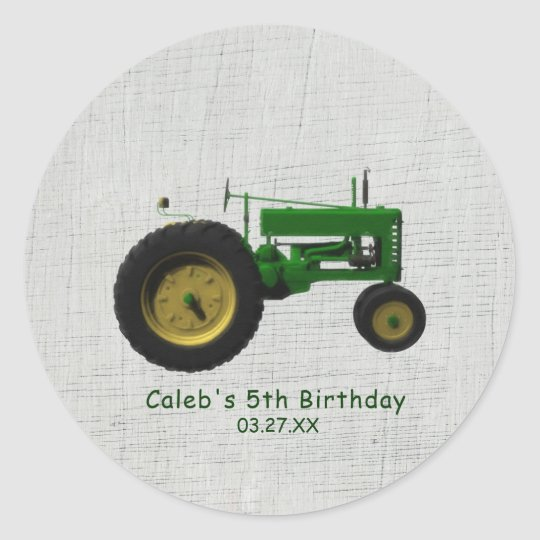 Farm Barnyard Tractor Birthday Party Favour Custom Classic