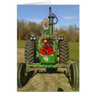 Farm Blessing Christmas Greeting Card