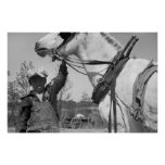 Farm Boy with Plough Horse, 1930s Poster