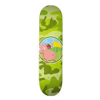 Farm bright green camo camouflage skate board